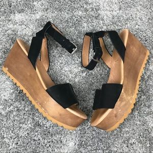 Madewell Platform Wooden Leather Sandal